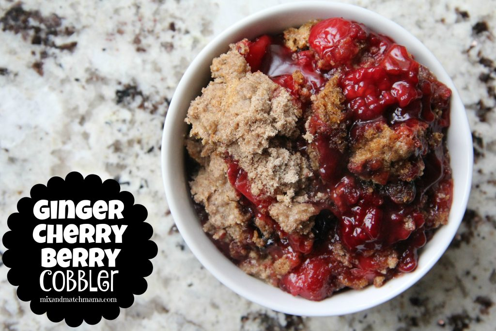 Ginger Cherry Berry Cobbler