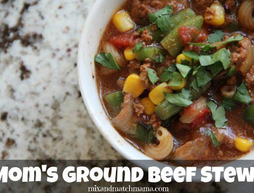 Mom's Ground Beef Stew