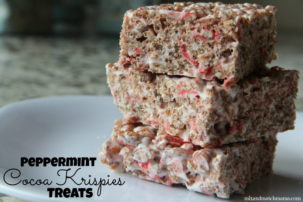 Peppermint Krispies Treats