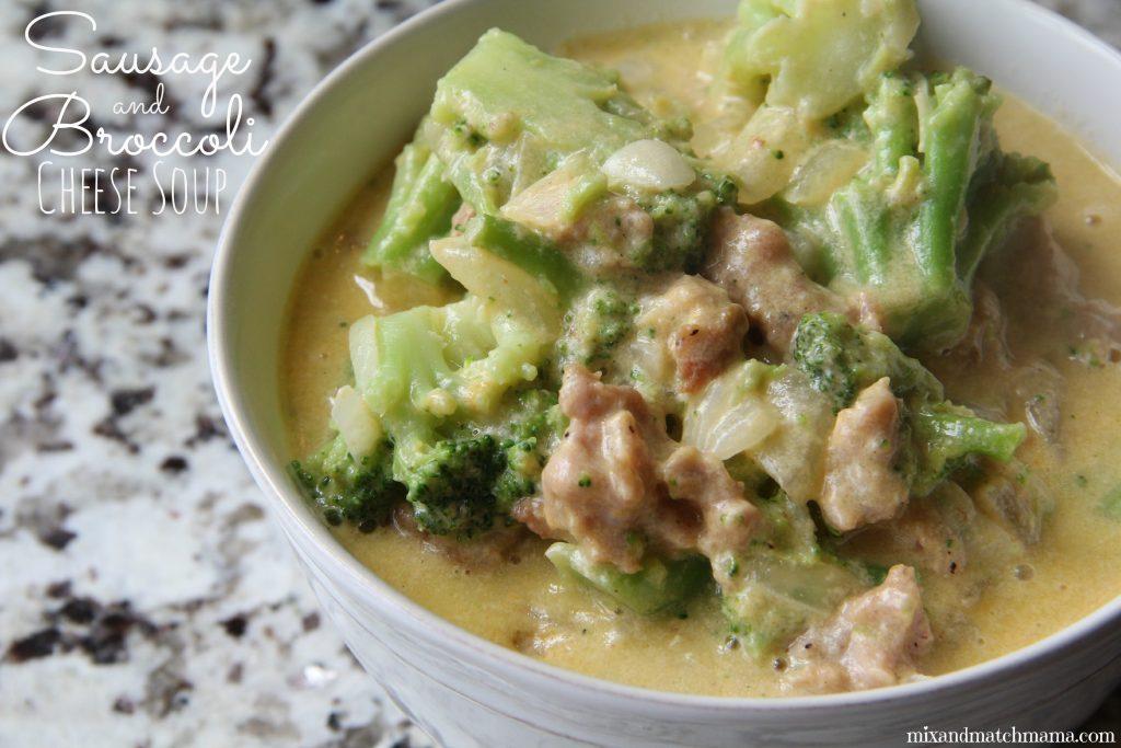 Sausage & Broccoli Cheese Soup