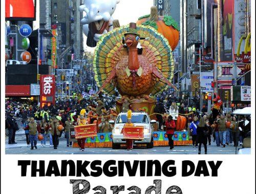 Thanksgiving Day Parade Breakfast Menu