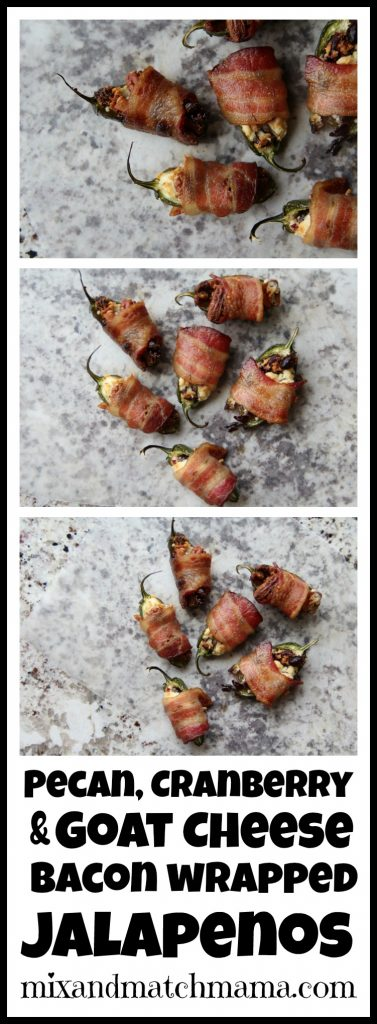 Pecan, Cranberry & Goat Cheese Bacon Wrapped Jalapenos Recipe, Pecan, Cranberry & Goat Cheese Bacon Wrapped Jalapenos