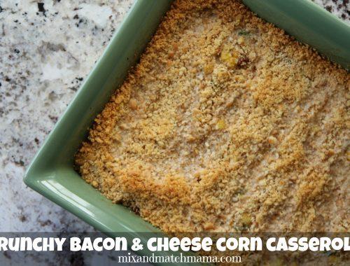 Crunchy Bacon & Cheese Corn Casserole