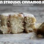 Pecan Streusel Cinnamon Rolls