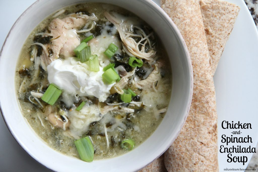 Chicken & Spinach Enchilada Soup