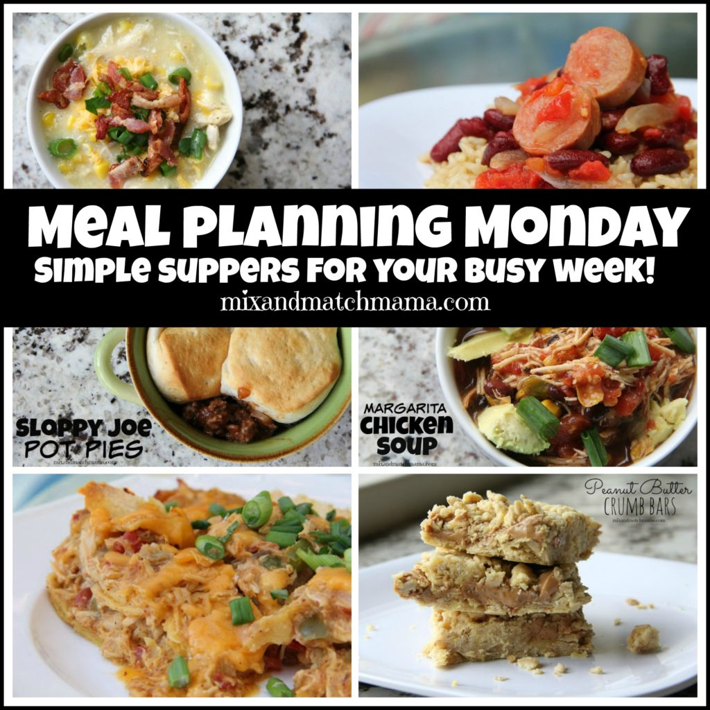 , Meal Planning Monday #168
