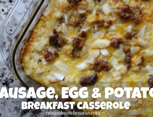 Sausage, Egg & Potato Breakfast Casserole