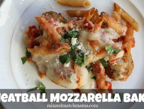 Meatball Mozzarella Bake