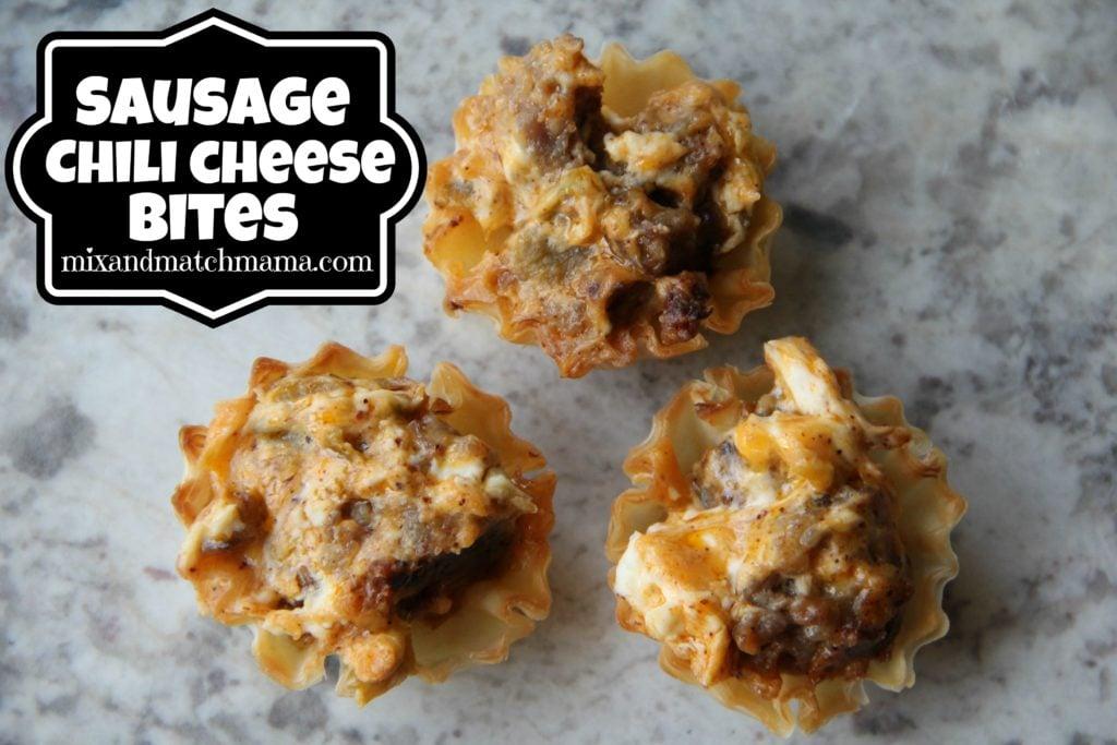 Sausage Chili Cheese Bites Recipe, Sausage Chili Cheese Bites