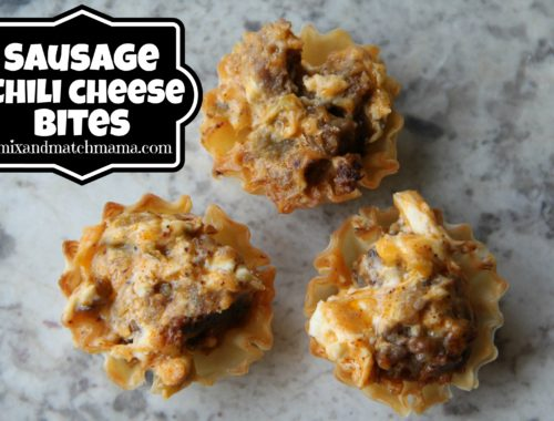Sausage Chili Cheese Bites