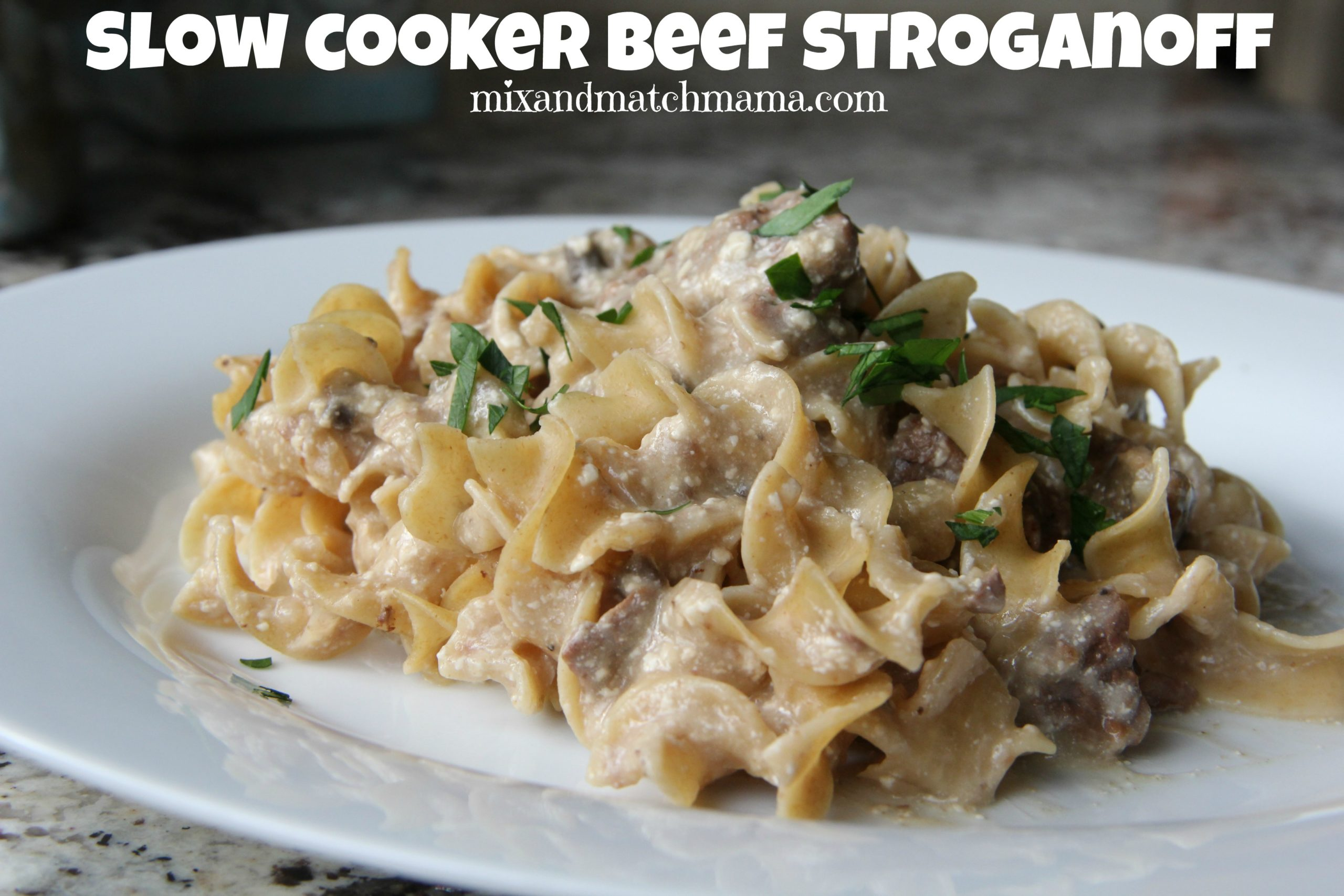 Dinner Tonight: Slow Cooker Stroganoff | Mix and Match Mama
