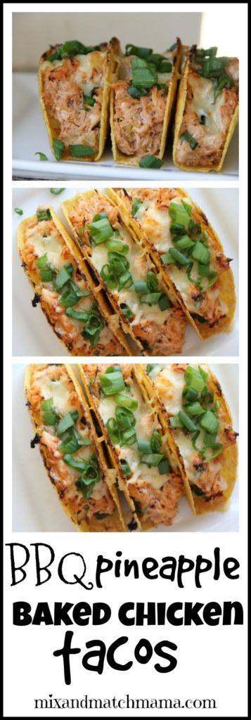 BBQ Pineapple Baked Chicken Tacos