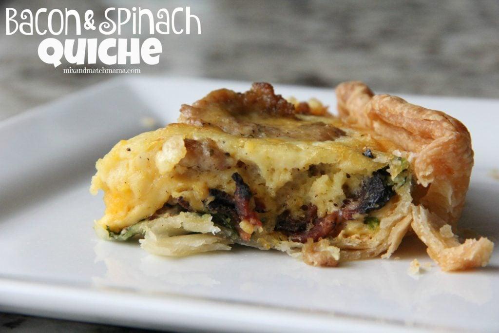 Bacon & Spinach Quiche