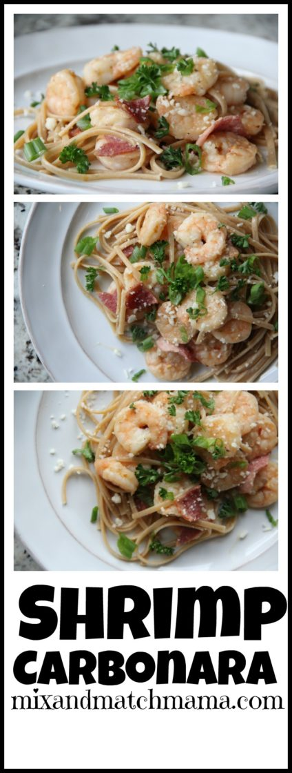 Shrimp Carbonara | Mix and Match Mama