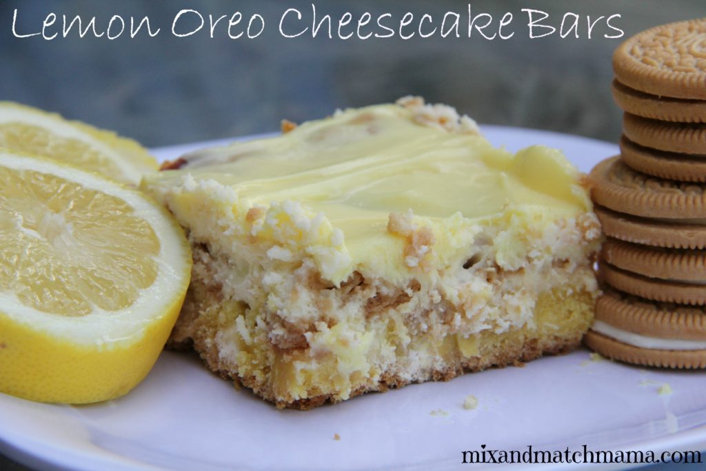 Lemon Oreo Cheesecake Bar