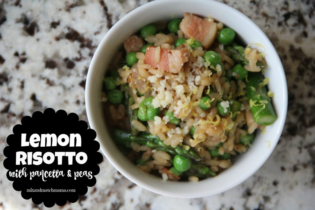 Lemon Risotto with Pancetta & Peas