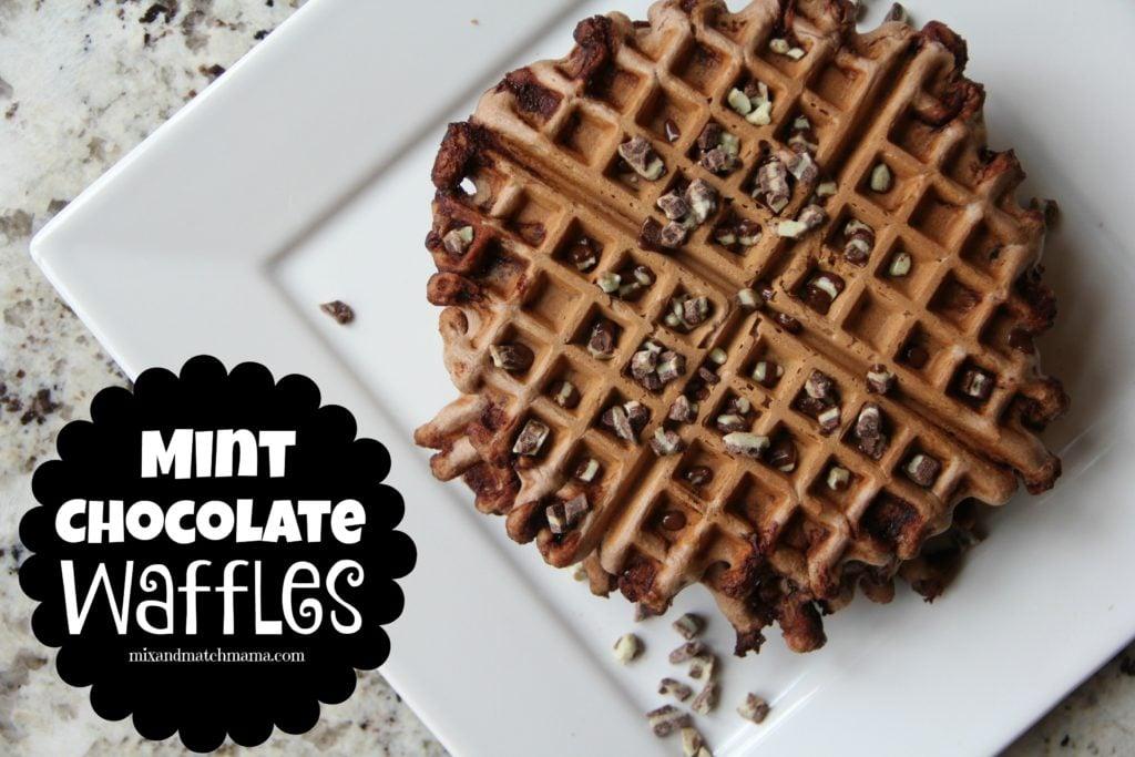 Mint Chocolate Waffles