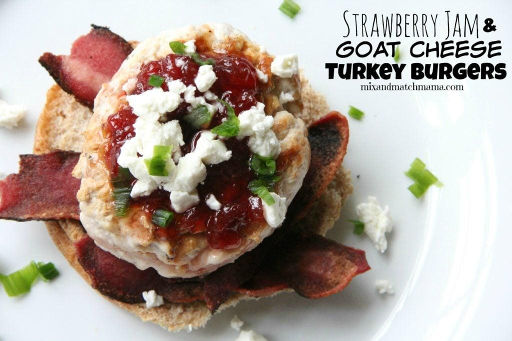 Strawberry Jam and Goat Cheese Turkey Burgers