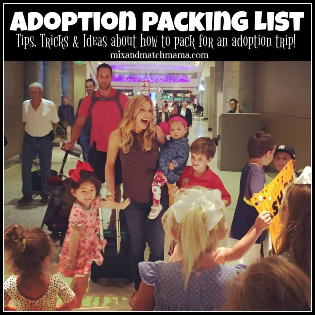 Adoption Packing List