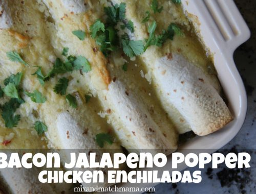 Bacon Jalapeno Popper Chicken Enchiladas