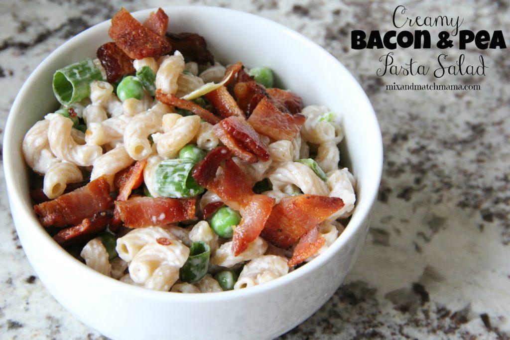 Creamy Bacon & Pea Pasta Salad