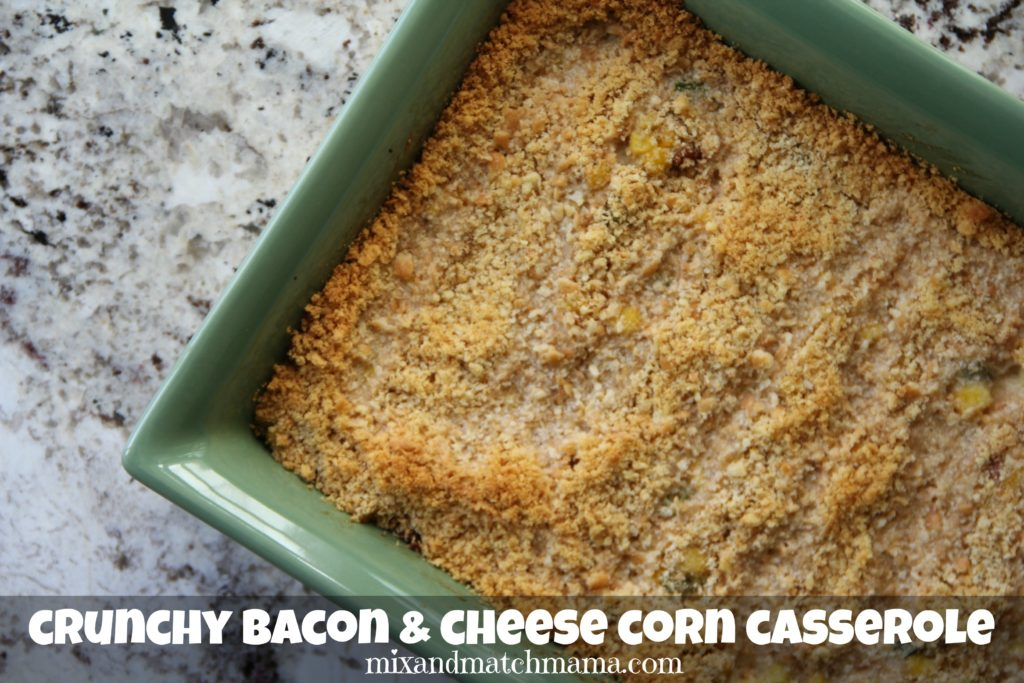 Crunchy Bacon & Cheese Corn Casserole