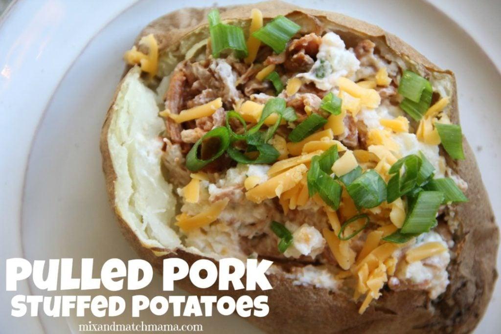 Pulled Pork Stuffed Potatoes Recipe, Pulled Pork Stuffed Potatoes