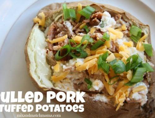 Pulled Pork Stuffed Potatoes