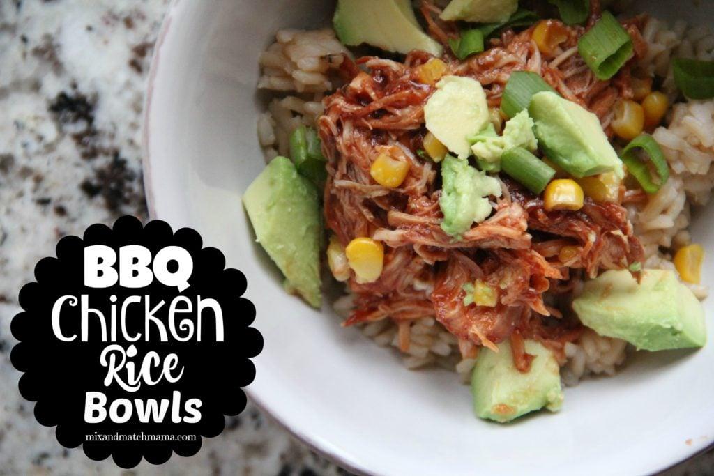 BBQ Chicken Rice Bowls