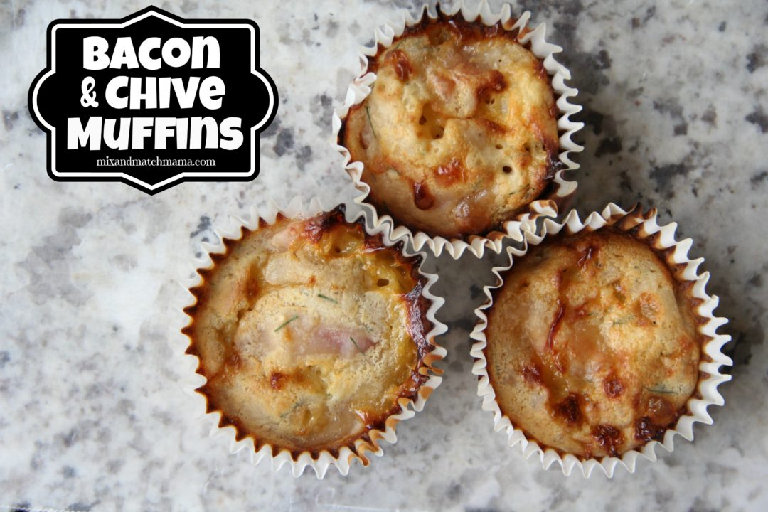 Mmmmmm! My Bacon & Chive Muffins are an excellent lunch box treat ...
