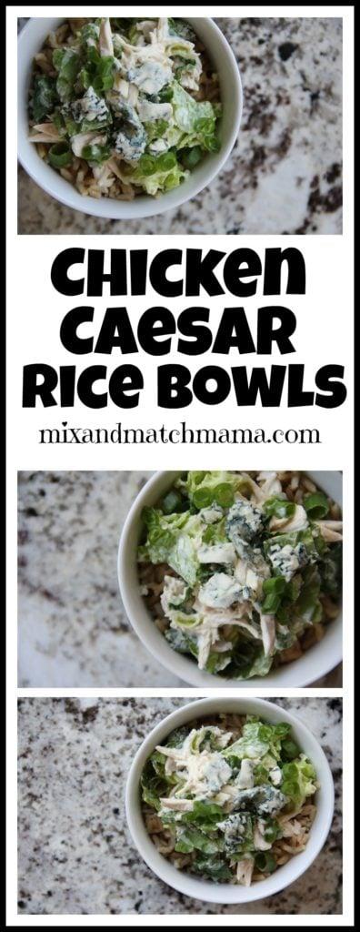 Chicken Caesar Rice Bowls