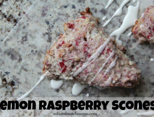 Lemon Raspberry Scones