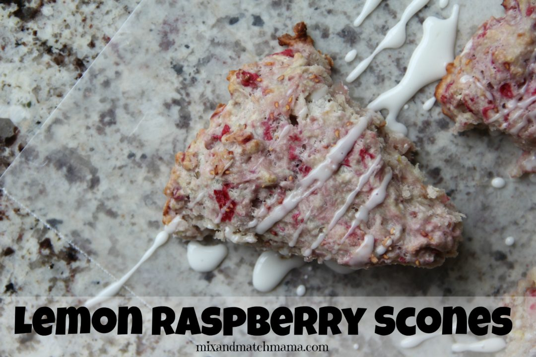 We made Lemon Raspberry Scones the other day and they were a huge hit ...