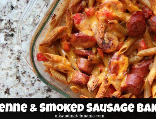 Penne & Smoked Sausage Bake