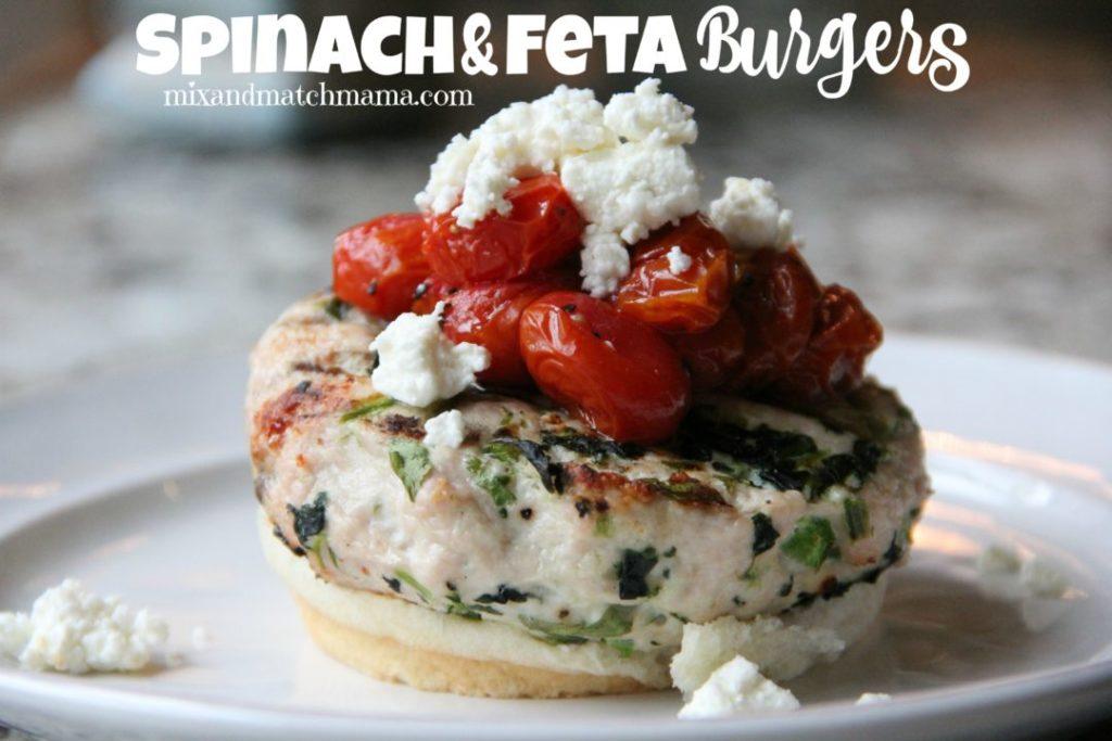Spinach & Feta Burgers