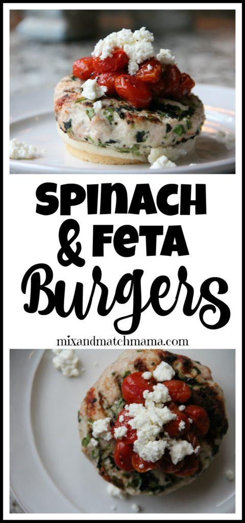 Spinach & Feta Burgers Recipe, Spinach & Feta Burgers