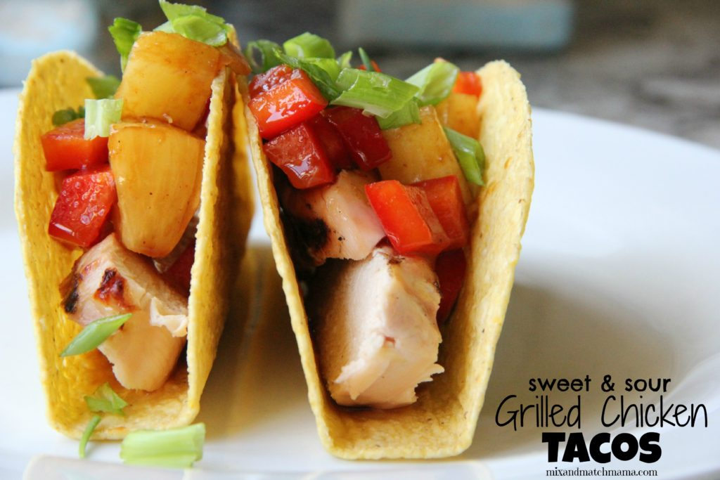 Sweet & Sour Grilled Chicken Tacos