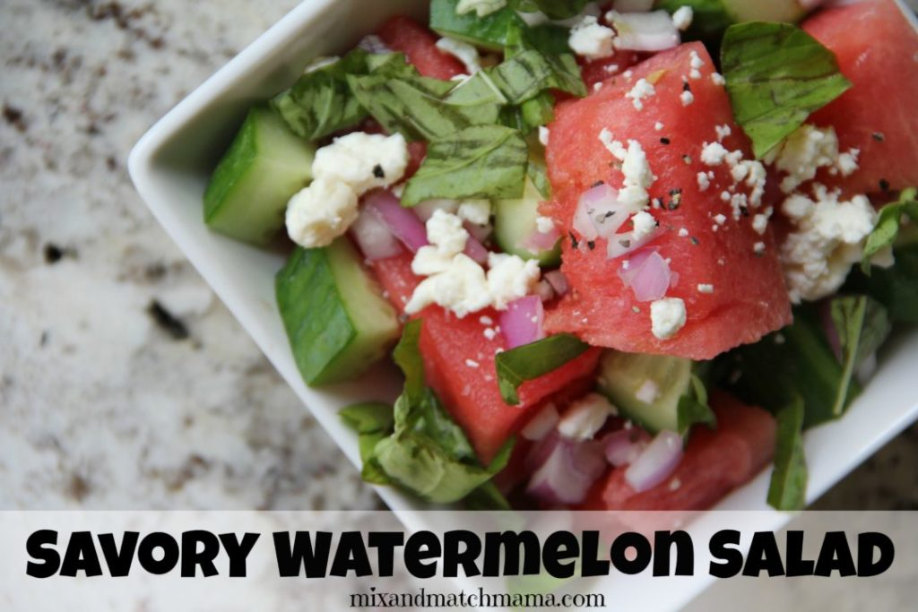 Savory Watermelon Salad