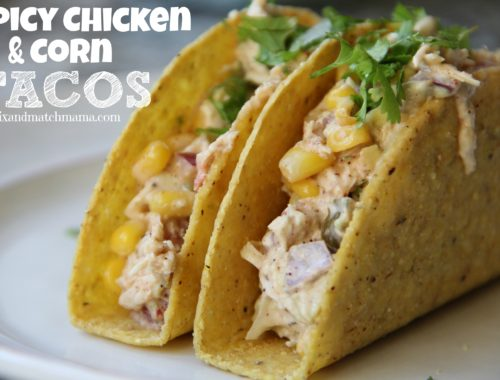 Spicy Chicken & Corn Tacos