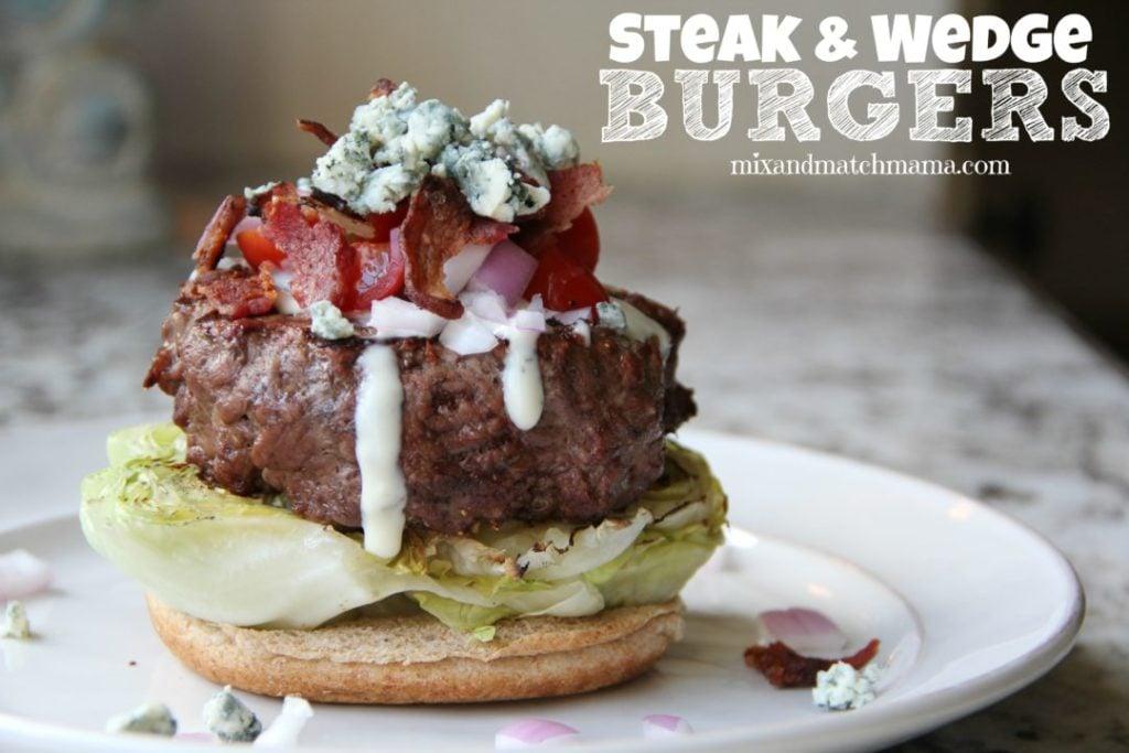 Steak & Wedge Burgers Recipe, Steak & Wedge Burgers
