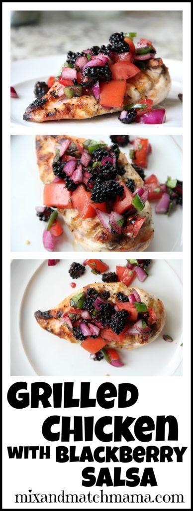 Grilled Chicken with Blackberry Salsa