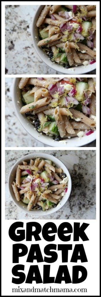 Greek Pasta Salad Recipe, Greek Pasta Salad