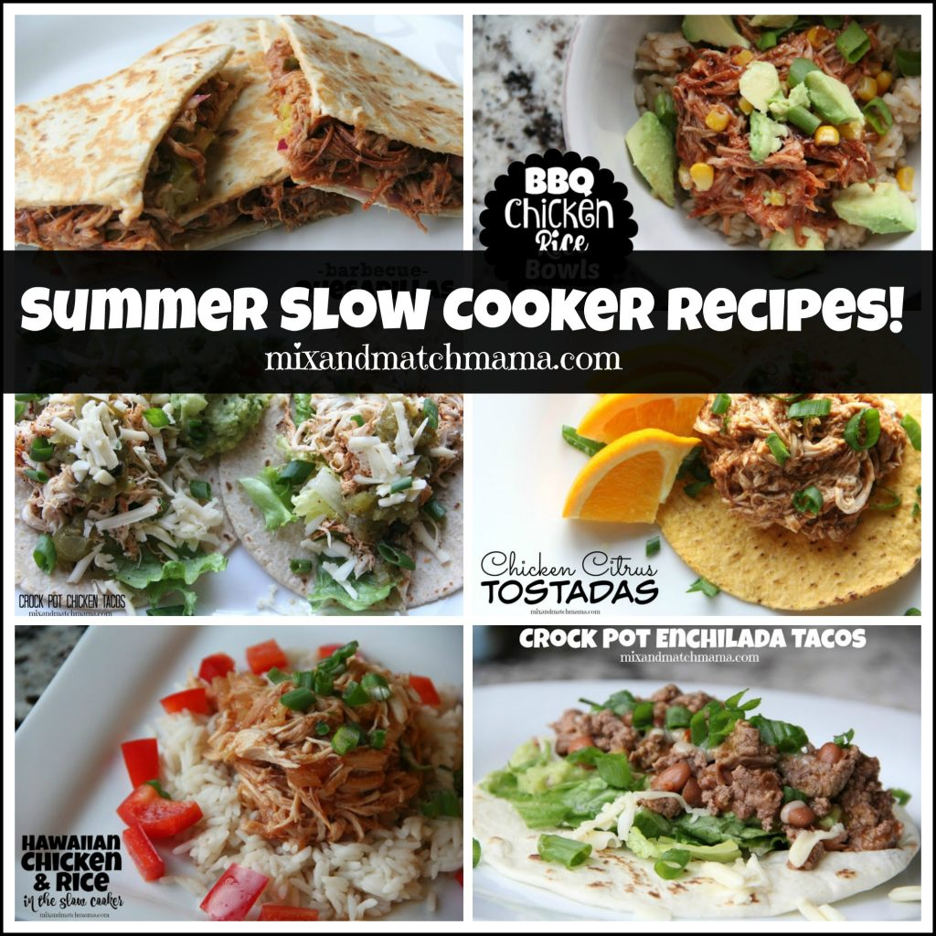 Summer Slow Cooker Suppers