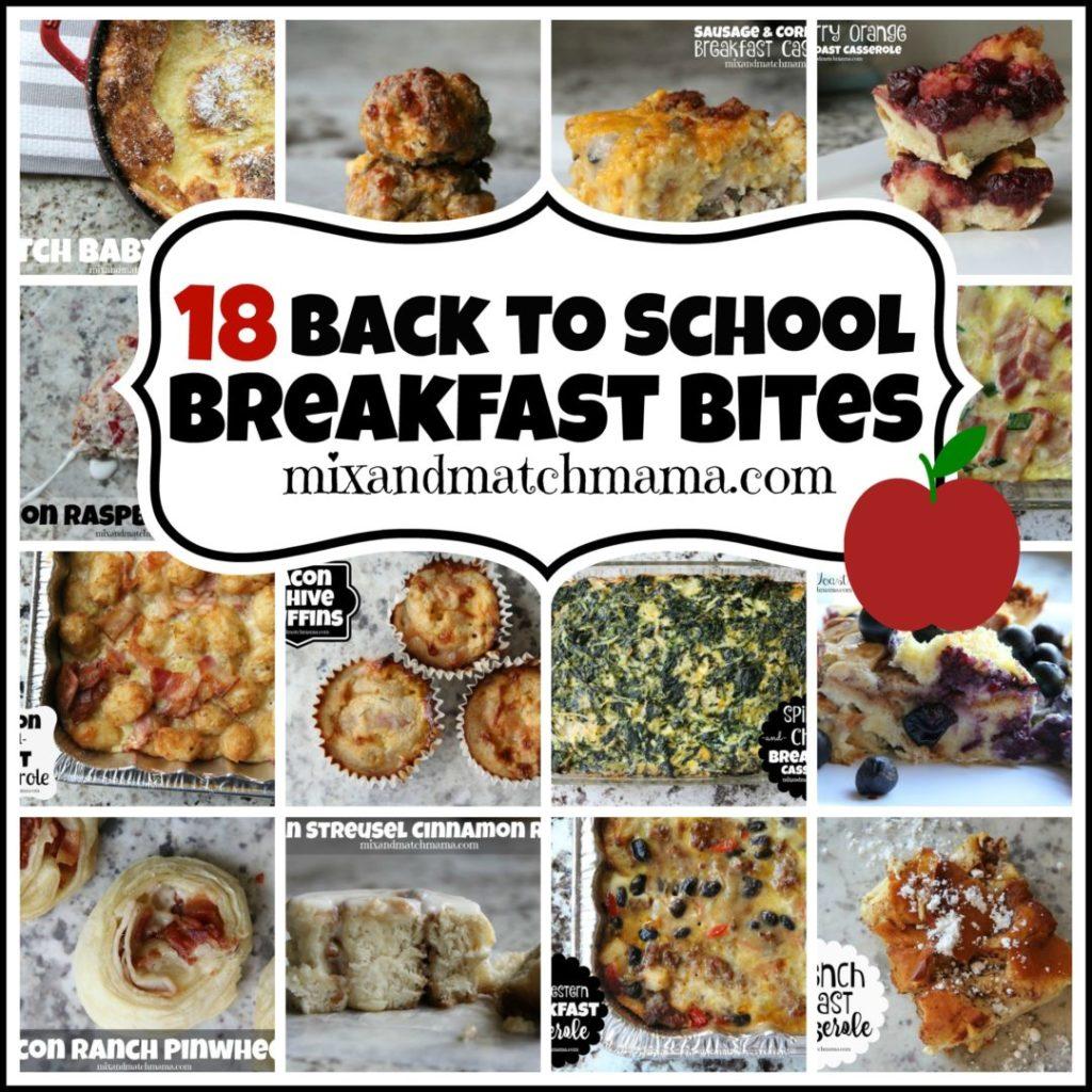 18 Back To School Breakfast Bites