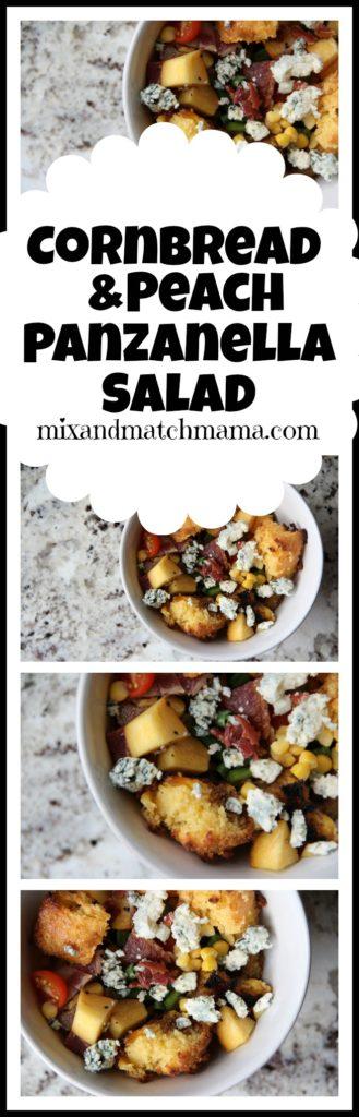 Cornbread & Peach Panzanella Salad Recipe, Cornbread & Peach Panzanella Salad
