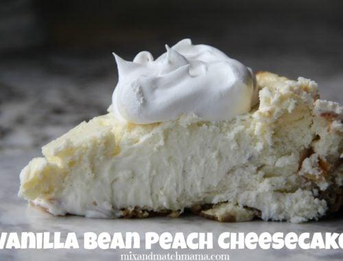 Vanilla Bean Peach Cheesecake