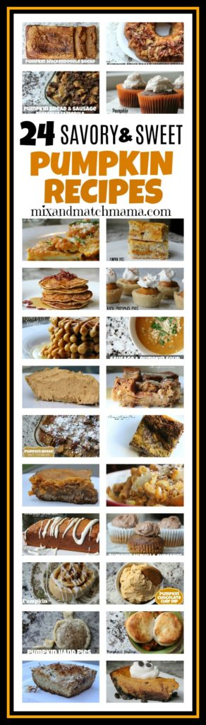24 Savory & Sweet Pumpkin Recipes