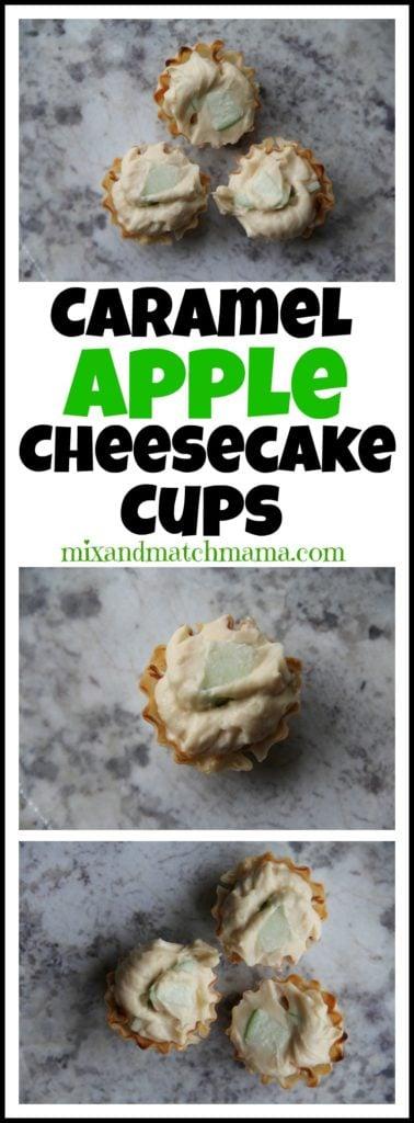 Caramel Apple Cheesecake Cups