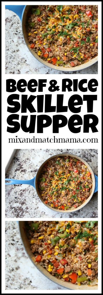 Beef & Rice Skillet Supper Recipe, Beef & Rice Skillet Supper