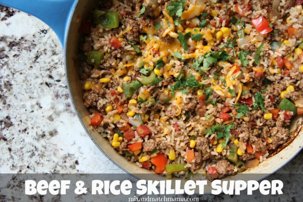 Beef & Rice Skillet Supper